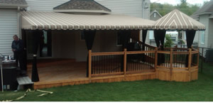 Customized patio awning